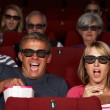 Couple Watching 3D Film In Cinema — Stock Photo #24440215
