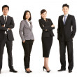 Full Length Studio Portrait Of Chinese Business Team — Stock Photo