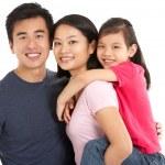 Studio Shot Of Chinese Family — Stock Photo