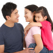 Stock Photo: Studio Shot Of Chinese Family
