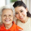 Portrait Of Chinese Mother With Adult Daughter Relaxing At Home — Stockfoto