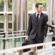 Two Business Colleagues Having Discussion Whilst Walking Outside — Stock Photo #24446767