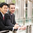 Two Businessmen Outside Modern Office — Stock Photo