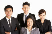 Studio Portrait Of Chinese Business Team — Stock Photo