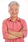 Foto studio homem chinês sênior — Foto Stock