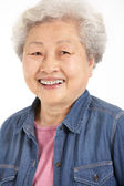 Studio Shot Of Chinese Senior Woman — Foto Stock