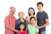 Studio Shot Of Multi-Generation Chinese Family — Stock Photo