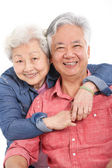 Studio Shot Of Chinese Senior Couple — Stock Photo