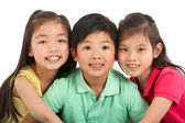Studio Shot Of Three Chinese Children — Stock Photo