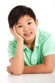 Foto de estúdio do menino chinês — Foto Stock