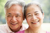 Head And Shoulders Portrait Of A Senior Chinese Couple — Stock Photo