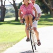 Senior Couple Enjoying Cycle Ride — Stock Photo