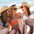 Group Of Teenage Girls Enjoying Beach Holiday Together — Stock Photo