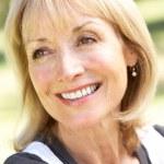 Outdoor Portrait Of Smiling Senior Woman — Stock Photo