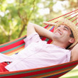 Stock Photo: MRelaxing In Hammock