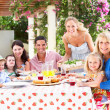 Portrait Of Multi Generation Family Meal — Stock Photo