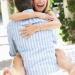 Romantic Portrait Of Senior Couple Embracing Outdoors — Stock Photo