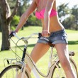 Stock Photo: WomEnjoying Cycle Ride