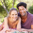 Couple Relaxing In Park Together — Stock Photo #24639223