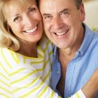 Romantic Portrait Of Senior Couple Indoors — Stock Photo