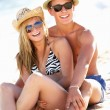 Teenage Couple Enjoying Beach Holiday Together — Stock Photo #24639755