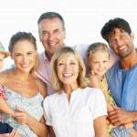 Multi Generation Family Enjoying Beach Holiday — Stock Photo #24639851