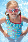 Portrait Of Girl In Swimming Pool — Stock Photo