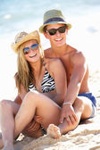 Teenage Couple Enjoying Beach Holiday Together — Stock Photo