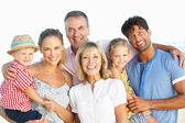 Multi Generation Family Enjoying Beach Holiday — Stock Photo