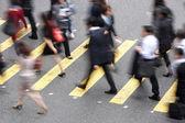 Taşıt meşgul hong kong geçerken havai görünümü — Stok fotoğraf