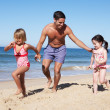 Family Having Fun On Beach — Stock Photo #24640287