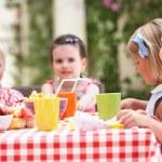 Group Of Children Enjoying Outdoor Tea Party — Stock Photo #24640363