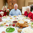 Multi Generation Family Celebrating With Christmas Meal — Stock Photo #24645275