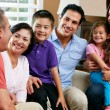 Multi Generation Family Relaxing At Home Together — Stock Photo