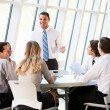 Business Having Board Meeting In Modern Office — Stock Photo #24646057