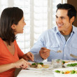 Couple Enjoying Meal At Home — Stock Photo
