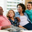 Portrait Of Grandparents With Grandchildren — Foto Stock #24646469