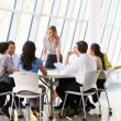 Business Having Board Meeting In Modern Office — Stock Photo #24647029