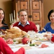 Multi Generation Family Celebrating With Christmas Meal — Stock Photo