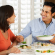 Couple Enjoying Meal At Home — Stock Photo #24648271