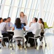 Business People Having Board Meeting In Modern Office - Stockfoto