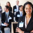 Businesswoman Delivering Presentation At Conference — Stock Photo #24649293