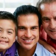 Stock Photo: Male Members Of Multi Generation Family At Home