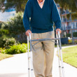Stock Photo: Senior MWith Walking Frame