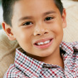 Stock Photo: Portrait Of Smiling Young Boy