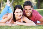 Couple Relaxing In Park Together — Stock Photo