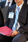 Détail de l'homme d'affaires à la conférence — Photo