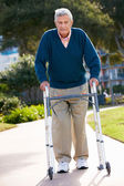 Senior Man With Walking Frame — Stock Photo