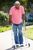 Senior Man With Walking Frame — Stock Photo