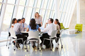 Business Having Board Meeting In Modern Office — Stok fotoğraf
